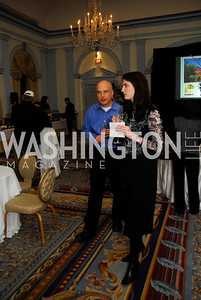 Todd Driscoll,Nancy Jones,January 19,2012,Capital Wine  Festival Kick-Off at the Fairfax Hotel,Kyle Samperton