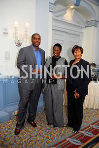 Jorge Munoz,Onika Munoz,Vonressa Davenport,January 19,2012,Capital Wine Festival  Kick-Off at the Fairfax Hotel,Kyle Samperton