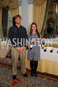 Kevin Goolsby,Sonya Farrell,January 19,2012,Capital Wine  Festival Kick-Off at the Fairfax Hotel,Kyle Samperton