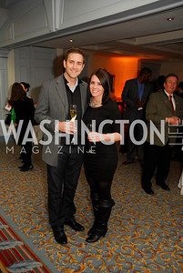 Adam Palmer,Jessica Palmer,January 19,2012,Capital Wine  Festival Kick-Off at the Fairfax Hotel,Kyle Samperton