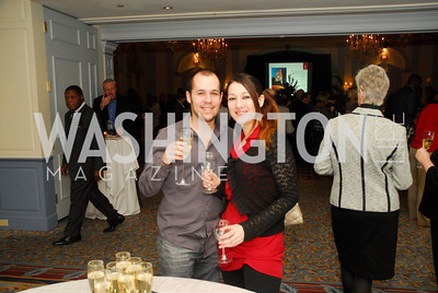 Diego Castano,Fatima Angula,January 19,2012,Capital Wine  Festival Kick-Off at the Fairfax Hotel,Kyle Samperton