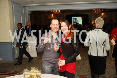 Diego Castano,Fatima Angula,January 19,2012,Capital Wine  Festival Kick-Off at the Fairfax Hotel,Kyle Samperton