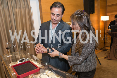 Homa Shahparast, Farshid Shahparast. Cartier 30 Years in Washington Private Cocktail Reception. Photo by Alfredo Flores. Cartier Chevy Chase. November 14, 2012