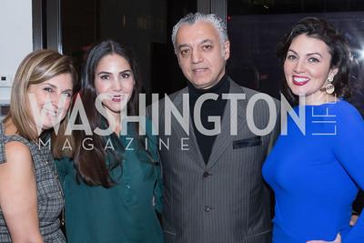 Fariba Jahanbani, Nina Habib, Hassan Habib, Mona Hamdi. Cartier 30 Years in Washington Private Cocktail Reception. Photo by Alfredo Flores. Cartier Chevy Chase. November 14, 2012