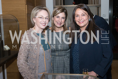 Mirella Levinas, Fariba Jahanbani, Susan Ladani. Cartier 30 Years in Washington Private Cocktail Reception. Photo by Alfredo Flores. Cartier Chevy Chase. November 14, 2012