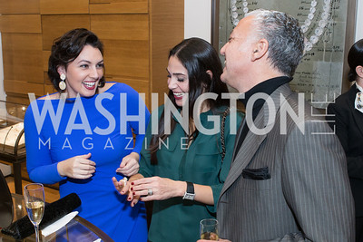Mona Hamdi, Nina Habib, Hassan Habib. Cartier 30 Years in Washington Private Cocktail Reception. Photo by Alfredo Flores. Cartier Chevy Chase. November 14, 2012