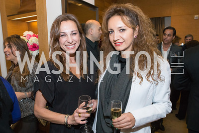 Hale Helmer, Sogol Afsharjavan. Cartier 30 Years in Washington Private Cocktail Reception. Photo by Alfredo Flores. Cartier Chevy Chase. November 14, 2012