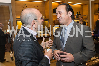 Danni Levinas, Hamid Zahedi. Cartier 30 Years in Washington Private Cocktail Reception. Photo by Alfredo Flores. Cartier Chevy Chase. November 14, 2012