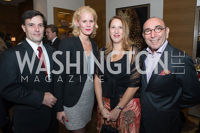 Ignacio Bravo, Adelaide Thomas, Luciana Chesta, Danni Levinas. Cartier 30 Years in Washington Private Cocktail Reception. Photo by Alfredo Flores. Cartier Chevy Chase. November 14, 2012