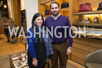 Susan Nsouli, Mounir Nsouli. Cartier 30 Years in Washington Private Cocktail Reception. Photo by Alfredo Flores. Cartier Chevy Chase. November 14, 2012
