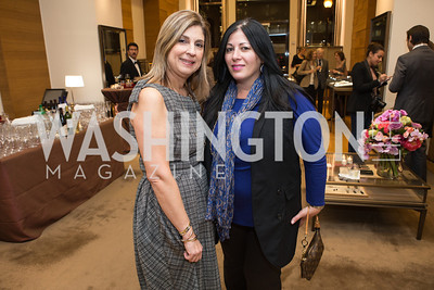 Fariba Jahanbani, Susan Nsouli. Cartier 30 Years in Washington Private Cocktail Reception. Photo by Alfredo Flores. Cartier Chevy Chase. November 14, 2012