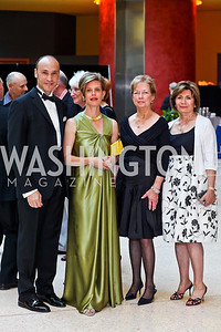 Roderick and Alexia von Lipsey, Suzanne Scheer, Fera Simone. Viva la Musica Gala. Photo by Tony Powell. Italian Embassy. May 19, 2012