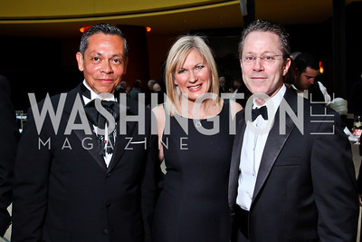 Raul Perea-Henze, Natalie and Rick Forrester. Viva la Musica Gala. Photo by Tony Powell. Italian Embassy. May 19, 2012