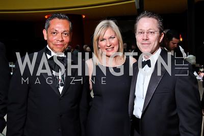 Raul Perea-Henze, Natalie and Rick Forrester. Viva la Musica Gala. Photo by Tony Powell. Italian Embassy. May 19, 2012