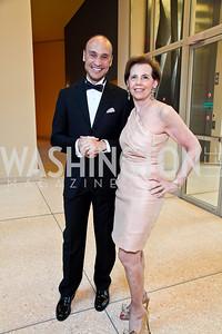 Roderick von Lipsey, Adrienne Arsht. Viva la Musica Gala. Photo by Tony Powell. Italian Embassy. May 19, 2012