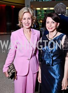Ann Nitze, JoAnn Mason. Viva la Musica Gala. Photo by Tony Powell. Italian Embassy. May 19, 2012