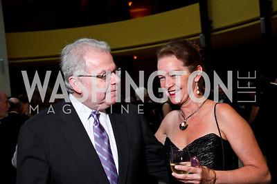 Emanuel Ax, Dietlinde Maazel. Viva la Musica Gala. Photo by Tony Powell. Italian Embassy. May 19, 2012