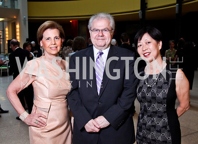 Adrienne Arsht, Emanuel and Yoko Ax. Viva la Musica Gala. Photo by Tony Powell. Italian Embassy. May 19, 2012