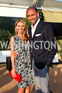 Nikki and Pasquale DePandi. CharityWorks 100 Point Vintage Wine Tasting. Photo by Tony Powell. Brickman residence. June 2, 2012