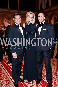 Joe Ruzzo, Cynthia Steele Vance, Will Thomas. Photo by Tony Powell. 2012 CharityWorks Dream Ball. Building Museum. September 29, 2012