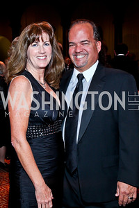 Elizabeth and Fernando Murias. Photo by Tony Powell. 2012 CharityWorks Dream Ball. Building Museum. September 29, 2012