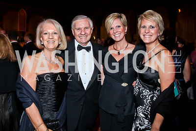 Graciela and Jorge Adeler, Wendy Adeler Hall and Valentina Adeler Armour. Photo by Tony Powell. 2012 CharityWorks Dream Ball. Building Museum. September 29, 2012