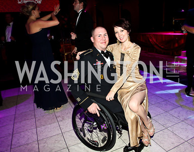 SFC Aaron and Kathleen Causey. Photo by Tony Powell. 2012 CharityWorks Dream Ball. Building Museum. September 29, 2012