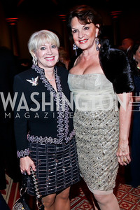 Elaine Rogers, Grace Bender. Photo by Tony Powell. 2012 CharityWorks Dream Ball. Building Museum. September 29, 2012