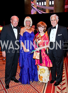 David and Susan Reichardt, Patricia Sagon, Charles Miller. Photo by Tony Powell. 2012 CharityWorks Dream Ball. Building Museum. September 29, 2012