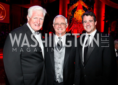 Congressman Jim Moran, Jack and Doug Gansler. Photo by Tony Powell. 2012 CharityWorks Dream Ball. Building Museum. September 29, 2012