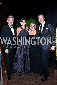 Mark Lowham, Michelle Freeman, Leah Gansler, Barry Dixon. Photo by Tony Powell. 2012 CharityWorks Dream Ball. Building Museum. September 29, 2012