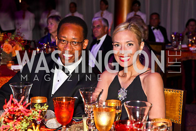 Chris Simmons, Xinomara Velazquez Yehuda. Photo by Tony Powell. 2012 CharityWorks Dream Ball. Building Museum. September 29, 2012