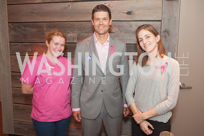 Elizabeth Benge, David Weintritt, Rebecca Tiffany. Circe of Alexandria, Grand Re-Opening Pink & Pink & Green Soiree. Photo by Alfredo Flores. Circe of Alexandria. June 12, 2012