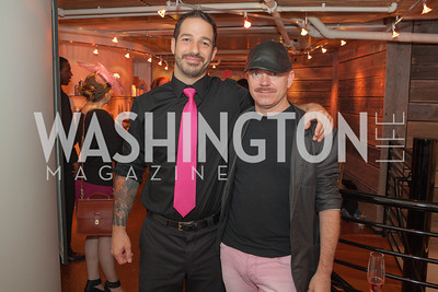 Joseph Ambrose, Paul Brewer. Circe of Alexandria, Grand Re-Opening Pink & Pink & Green Soiree. Photo by Alfredo Flores. Circe of Alexandria. June 12, 2012