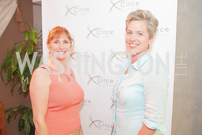 Dee Dee Payne, Angie Lawson. Circe of Alexandria, Grand Re-Opening Pink & Pink & Green Soiree. Photo by Alfredo Flores. Circe of Alexandria. June 12, 2012