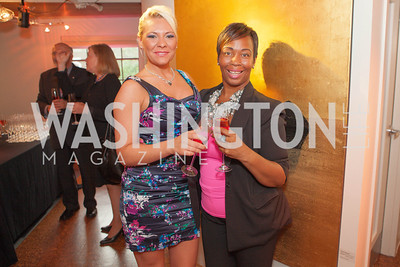 Dominique Hatcher, Kimmie Brickus. Circe of Alexandria, Grand Re-Opening Pink & Pink & Green Soiree. Photo by Alfredo Flores. Circe of Alexandria. June 12, 2012