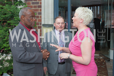 Alexandria Mayor Bill Euille, Richard Vlasak, Ellen Vlasak. Circe of Alexandria, Grand Re-Opening Pink & Pink & Green Soiree. Photo by Alfredo Flores. Circe of Alexandria. June 12, 2012