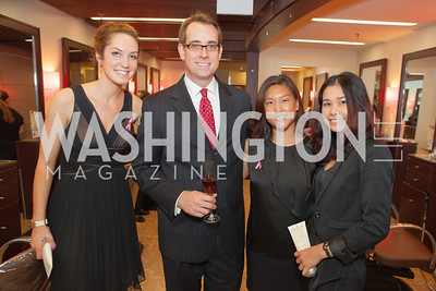 Ellery Mallett, Jason Leuck, Heather Jones, Tuyen Nghe. Circe of Alexandria, Grand Re-Opening Pink & Pink & Green Soiree. Photo by Alfredo Flores. Circe of Alexandria. June 12, 2012