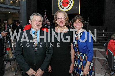 Cal Leonard, Carol Thompson Cole, Jeffrey Leonard. City Year Washington DC's 2012 Idealism in Action Gala. Ronald Reagan Building Atrium. May 23, 2012. Photo by Alfredo Flores
