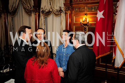 Clyde Tuggle ,Turkish Amb.Namik Tan, Dean Kamen,December 5,2012,Clean Water to Communities Reception at The Residence of the Turkish Ambassador,Kyle Samperton