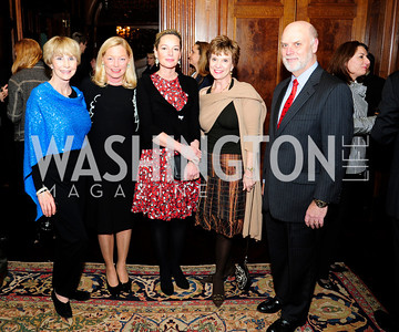 Jan Cousteau,Ellen Noughes, Mariella Trager, Debby Kelly,Dennis Kelly,December 5,2012,Clean Water to Communities Reception at The Residence of the Turkish Ambassador,Kyle Samperton