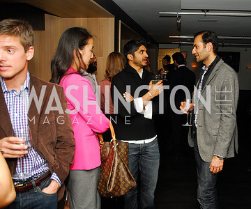 Tina Jeon, Vinook Basnayake,Omar Popal,November 5,2012,A cocktail party for Club Caravan at A Bar,Kyle Samperton
