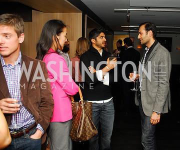 Tina Jeon, Vinook Basnayake,Omar Popal,November 5,2012,A cocktail party for Club Caravan at A Bar,Kyle Samperton