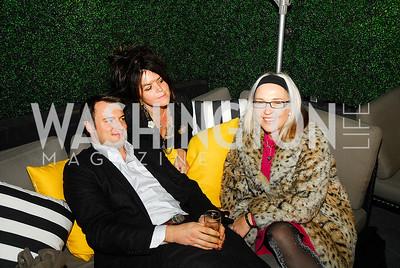 Austin Bryan,Izette Folger,Kate Damon,November 5,2012,A cocktail party for Club Caravan at A Bar,Kyle Samperton