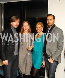 Christopher Reiter,Juleanna Glover,Mary Anne Huntsman,Omar Popal,November 5,2012,A cocktail party for Club Caravan at A Bar,Kyle Samperton