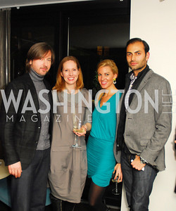 Christopher Reiter,Juleanna Glover,Mary Anne Huntsman,Omar Popal,November 5,2012,A cocktail party for Club Caravan at A Bar,Kyle Samperton
