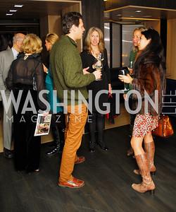 Mark  Gillispie,Karen Yankosky,Philippa Hughes,Christina Sevilla,November 5,2012,A cocktail party for Club Caravan at A Bar,Kyle Samperton