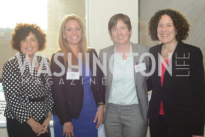 Lynn Rosenthal, Cristal Brun, Rebecca Woods, Bea Hanson, DC Rape Crisis Center celebrates 40 years at Reed Smith.