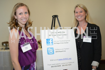 Paige Doster, Lynsey Gallagher,  DC Rape Crisis Center celebrates 40 years at Reed Smith.