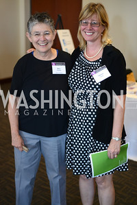 Mary Farmer,  Denise Gray,  DC Rape Crisis Center celebrates 40 years at Reed Smith.
